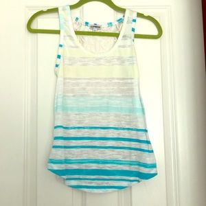 Express tank top with see-through lace back
